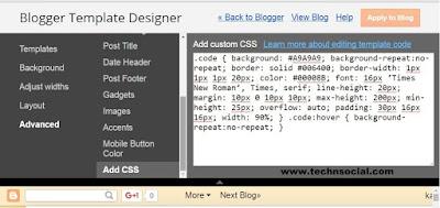 Blogger Blogspot Template editor
