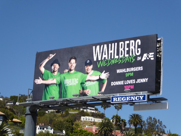 Wahlberg Wednesdays Wahlburgers billboard