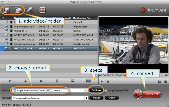 pavtube quicktime mov to imovie converter