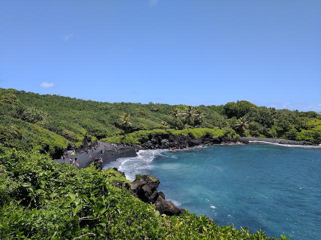 Черный пляж. Мауи