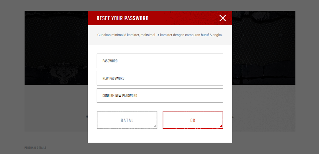 How to change the point blank password