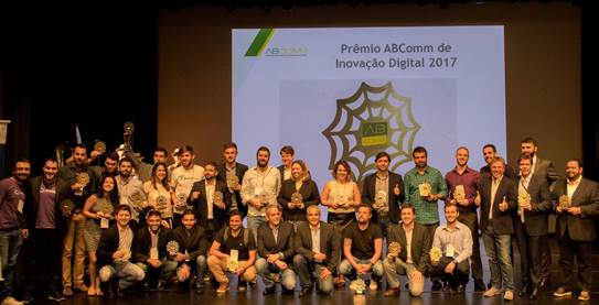 Prêmio ABComm de Inovação Digital 2017 anuncia seus vencedores