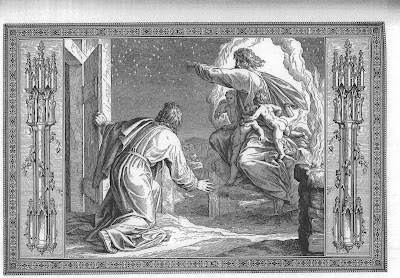 """The blessing of Abraham"" by Julius Schnorr"