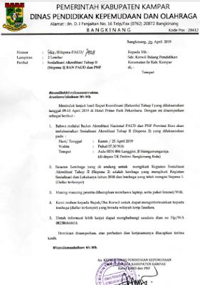 Jadwal Pelaksanaan Sosialisasi Akreditasi SISPENA 2.0 BAN PAUD dan PNF