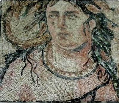 I was contacted by a smuggler from Turkey who asked if I was interested to purchase this mosaic.