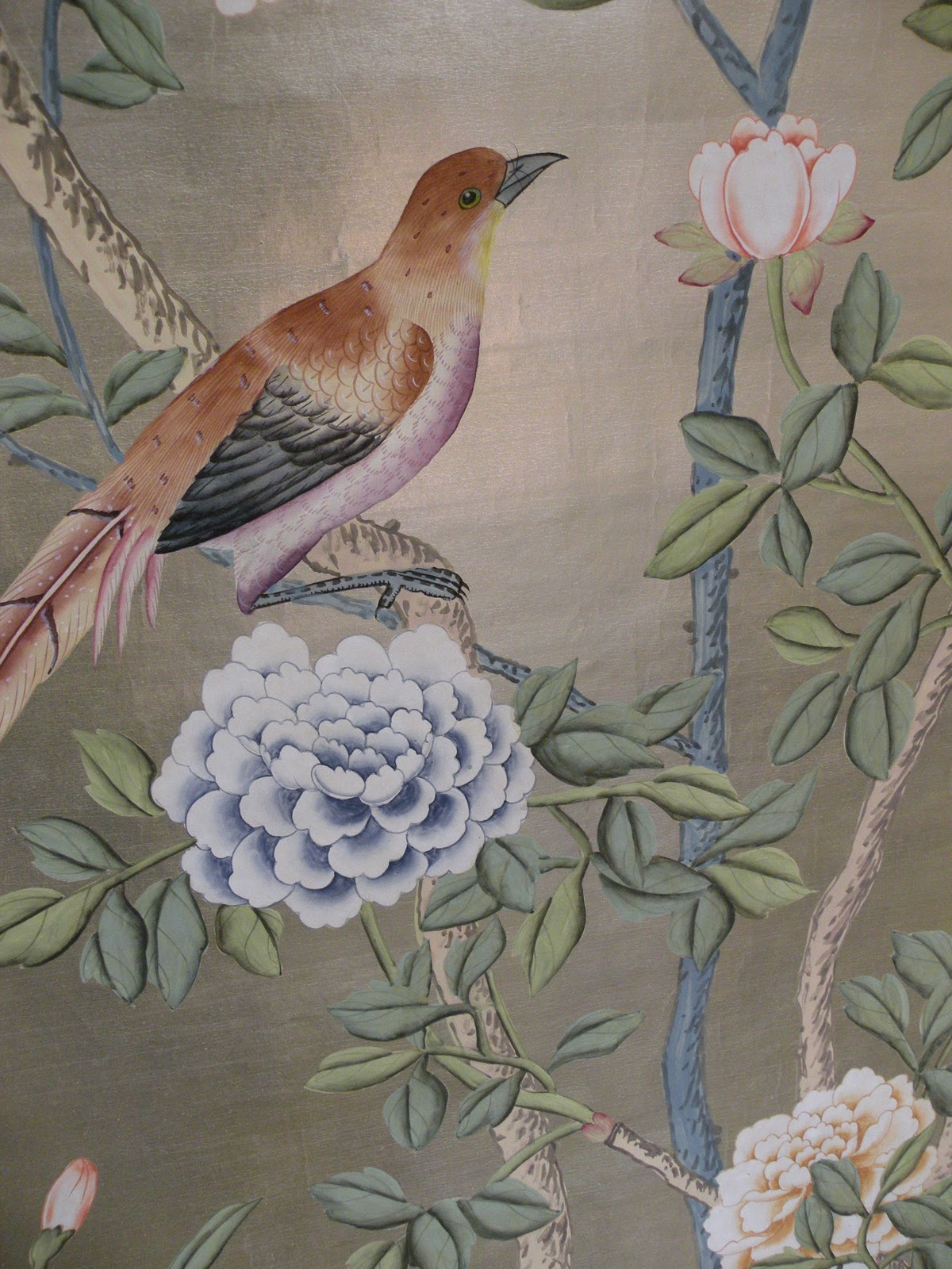Chloe van paris de gournay hand painted wallpaper for Papel pintado romantico