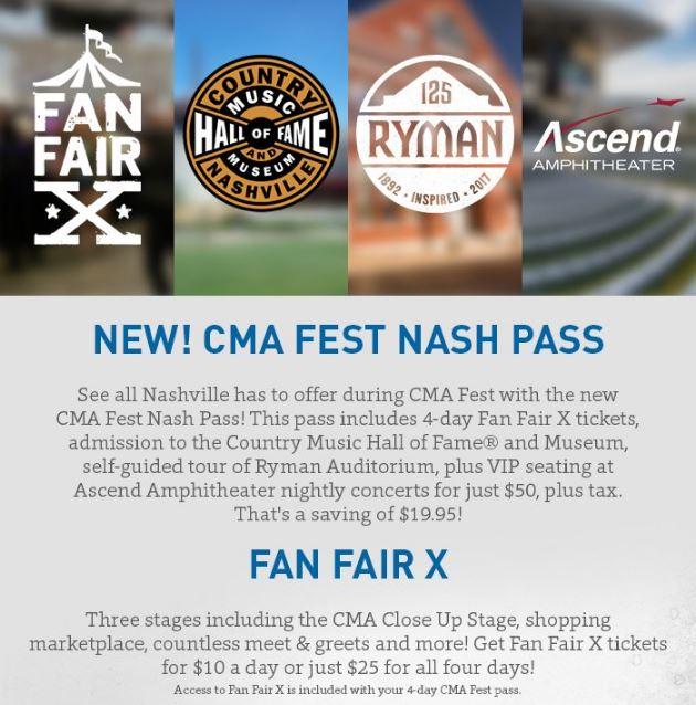 b02537dbd Fan Fair X Tickets on Sale Now + New CMA Fest Nash Pass!!! ~ 2019 ...