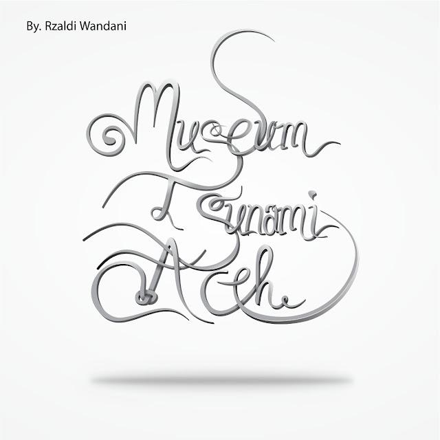 portfolio Typography 3D Museum Tsunami Aceh