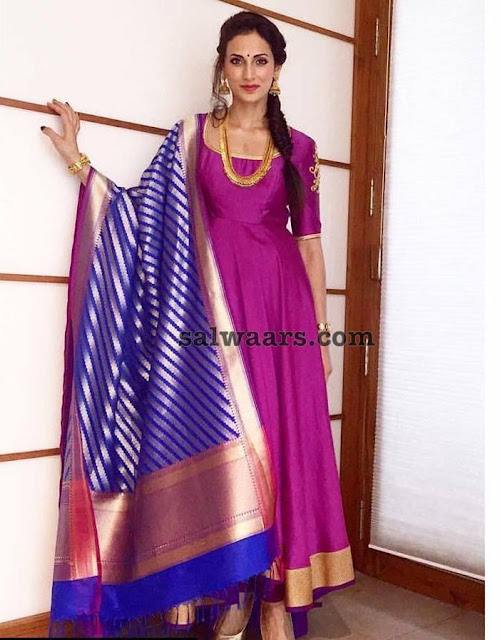 Shilpa Reddy Purple Salwar