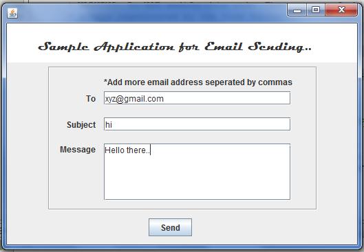 Java Source Code: How to send email in java (swings)