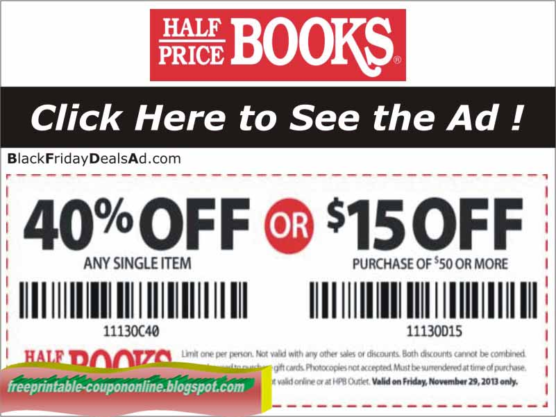 Coupon code for half.com