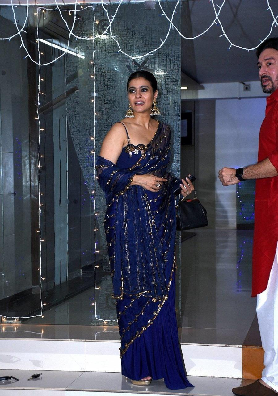 Indian Actress Kajol at Mallika Bhatt's Diwali Party In Mumbai