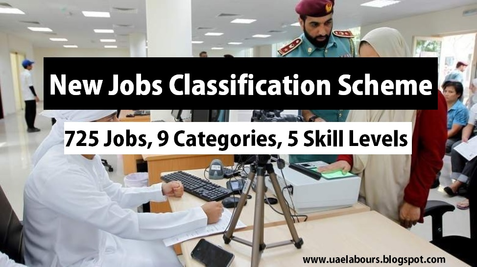 New job classification scheme, Nine Profession Categories, Five Skill Level