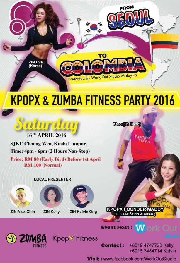 KPOPX and Zumba Dance Party 2016 presented by Work Out