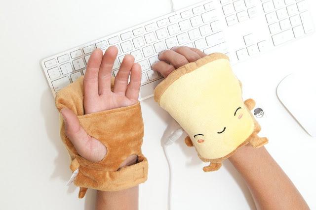 mitaines gants chauffants kawaii mignon cute bureau