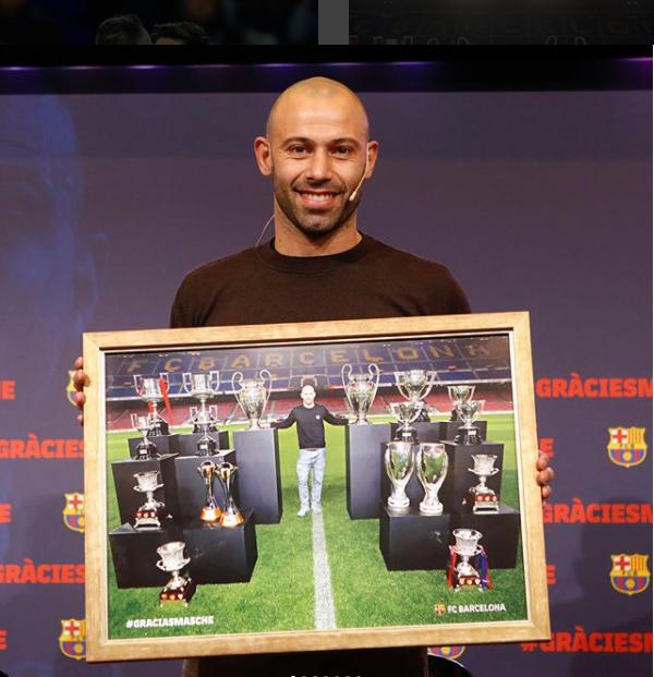 Salam Perpisahan Javier Mascherano Buat Barcelona