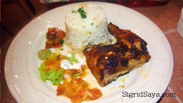peri-peri chicken at Fogo Grill