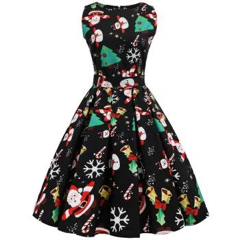 Hepburn Style S50 Waist Christmas Dress