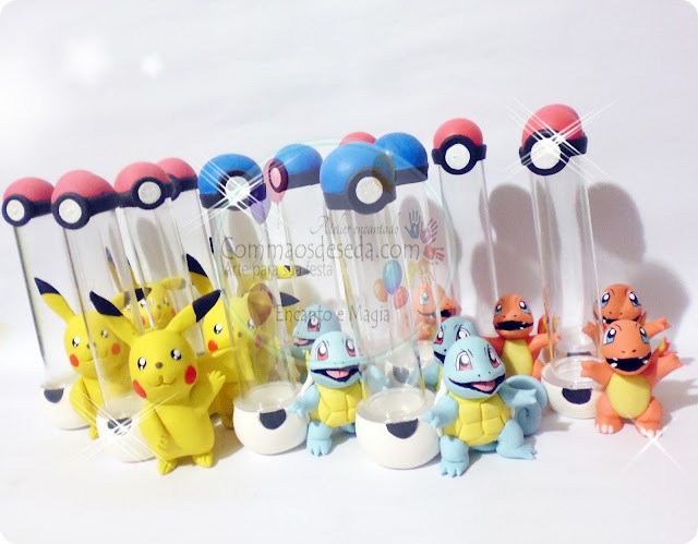 Tubetes Pokemons - Faça seu pedido
