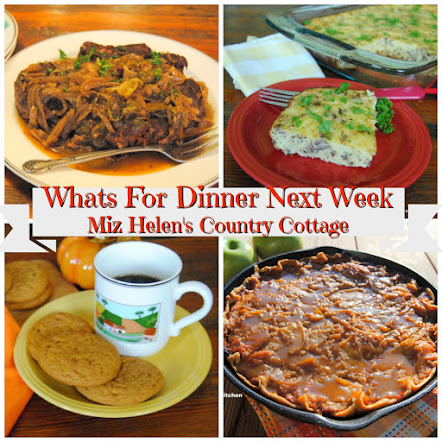 Whats For Dinner Next Week * Week of 10-14-18