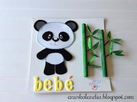 Oso-panda-goma-eva-foamy-cuadro-habitación- bebé-anuskalandia