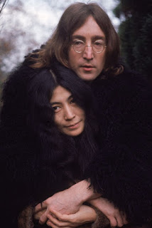 With beloved wife Yoko Ono