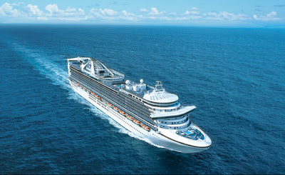 Princess Cruises' Caribbean Princess at Sea