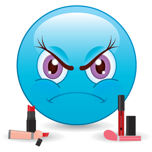 Angry make up emoji
