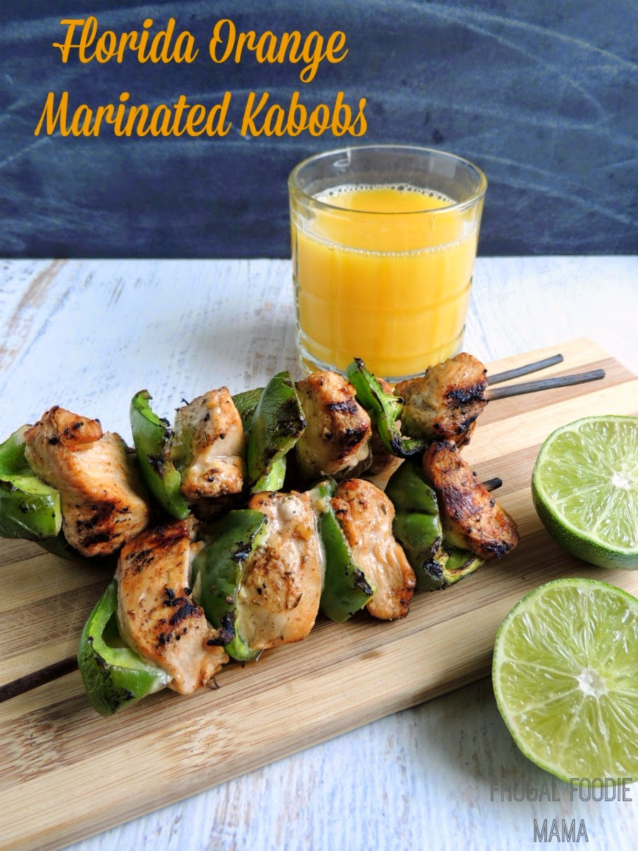 Florida Orange Marinated Kabobs via thefrugalfoodiemama.com #Sponsored #MC #OJTailgate