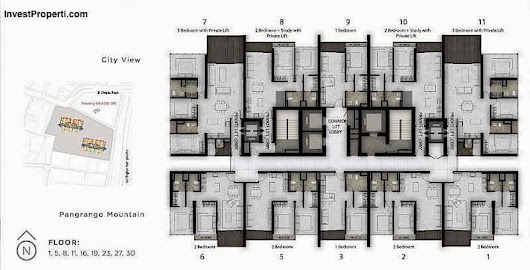 Floor Plan Apartemen Lexington Residence Pondok Indah - Apartemen Lexington Residence