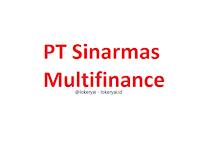 Lowongan Kerja PT Sinarmas Multifinance Terbaru
