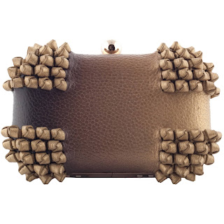 Blend Knot Box Clutch,Gold-Brown by Zooki