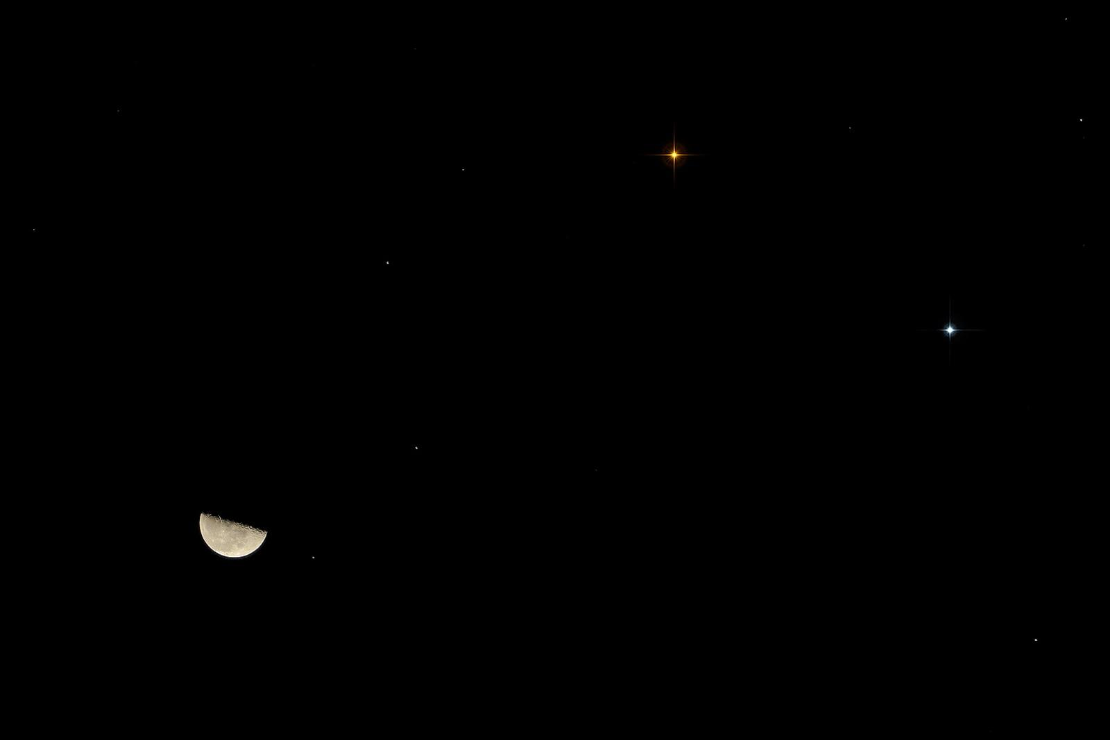 esplaobs: LAST QUARTER MOON, MARS AND SATURN Taken by Peter
