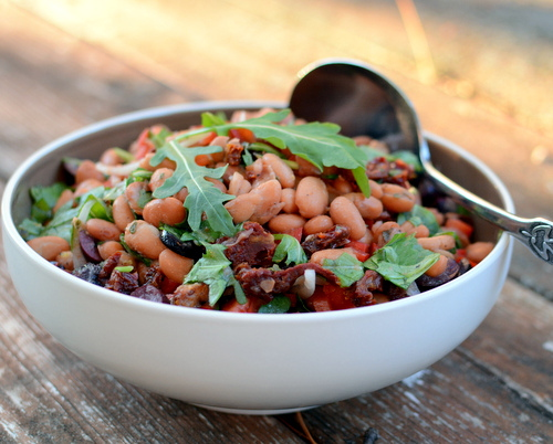 Tuscan Bean Salad, another healthy salad ♥ AVeggieVenture.com