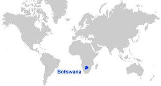 image: Botswana Map Location