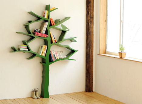 Walls Under Construction Diy Tree Bookshelf