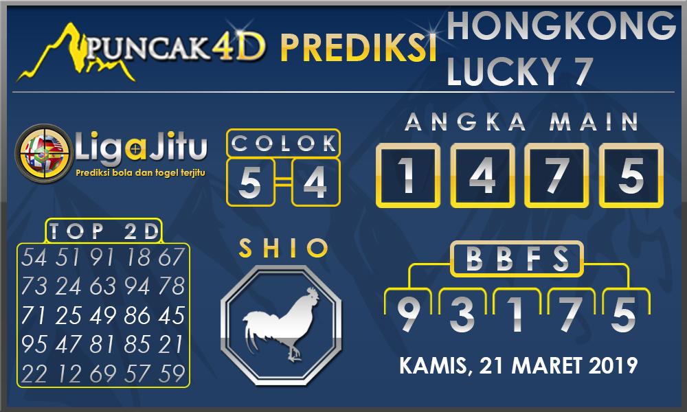 PREDIKSI TOGEL HONGKONG LUCKY7 PUNCAK4D 21 MARET 2019