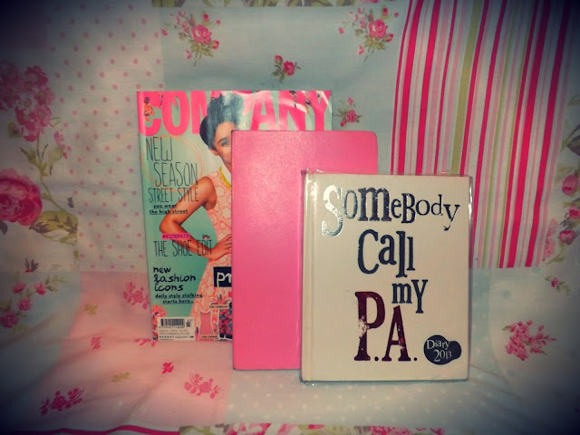 Notebooks and magazines
