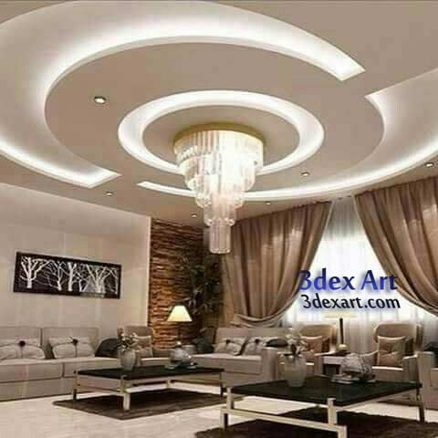 Latest false ceiling designs for living room and hall 2018 for Types of ceiling designs