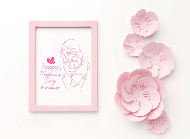 Top view mothers day concept Free Psd