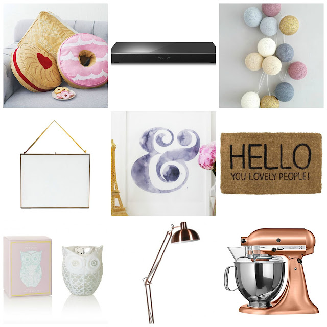 homeware wishlist panasonic speakers lights doormat print owl candle oliver bonas kitchen aid