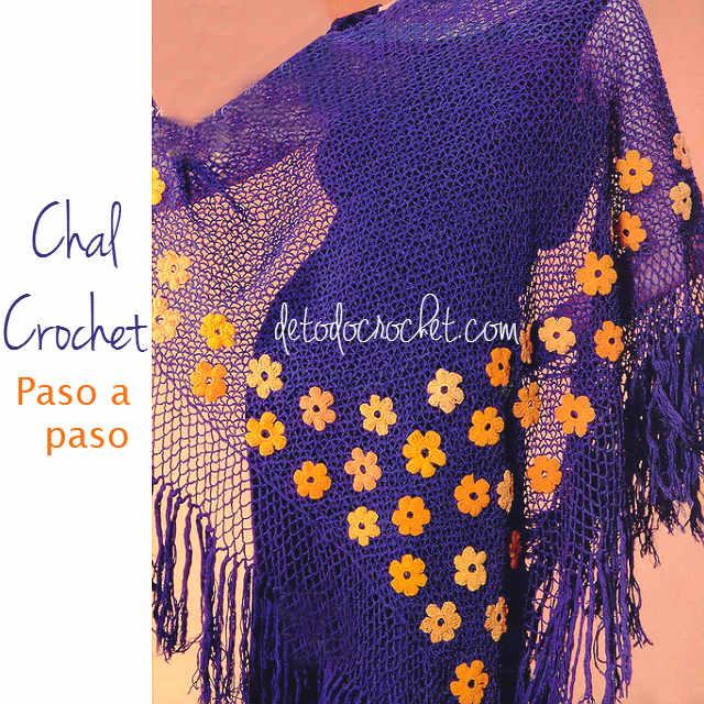 como tejer mantón al crochet