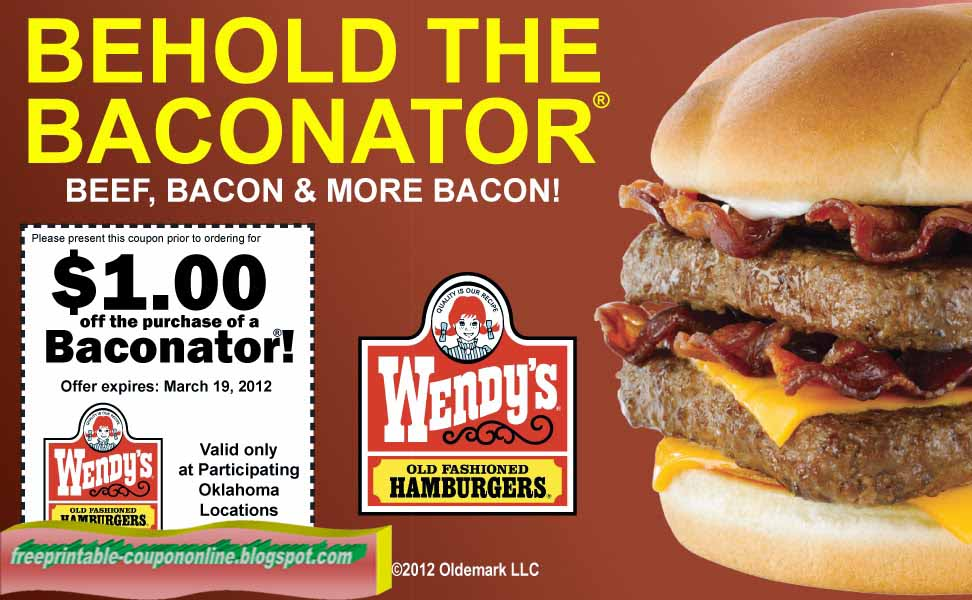 Wendy's coupons march 2018 printable