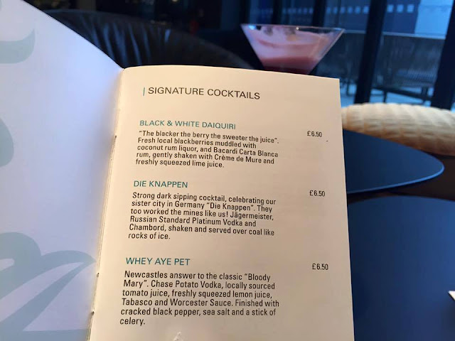 Signature cocktails from the bar at Motel One Newcastle