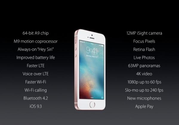 iPhone SE key specs