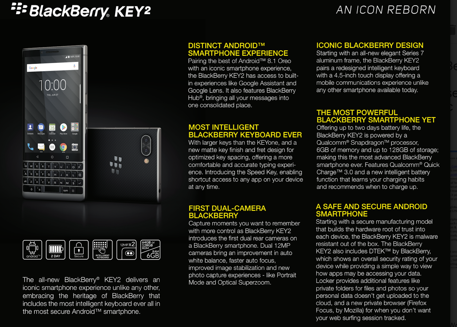 The BlackBerry Key2 - an icon reborn ~ Android Coliseum