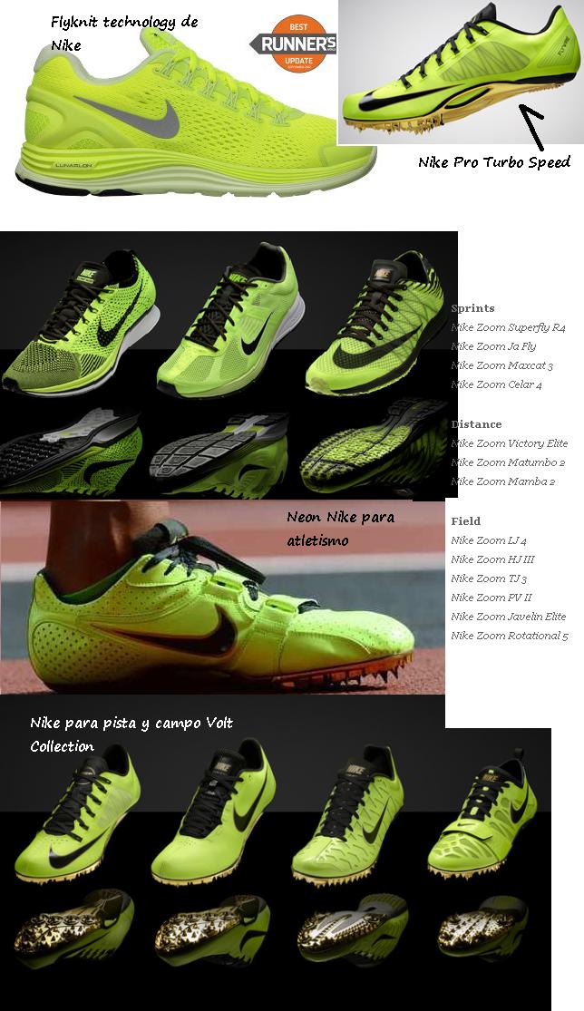 wholesale dealer 2f1ac ead24 Entre los corredores y otros atletas de salto y velocidad están usando las  Nike Lunar glide de color verde fosforescente.