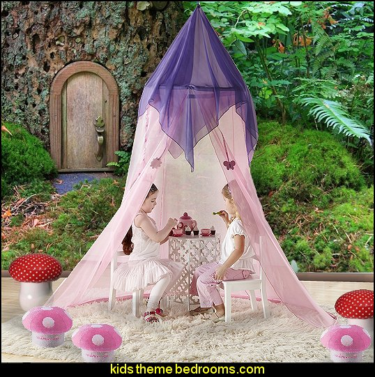 Fairy Tale Princess Canopy forest wall mural mushroom furniture