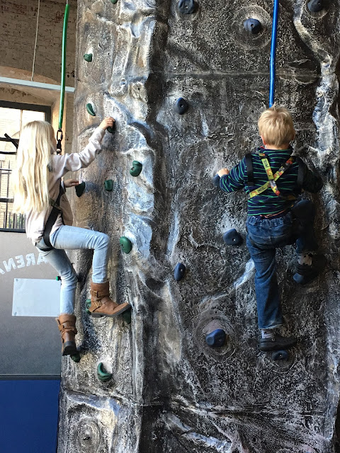 Action Stations climbing wall