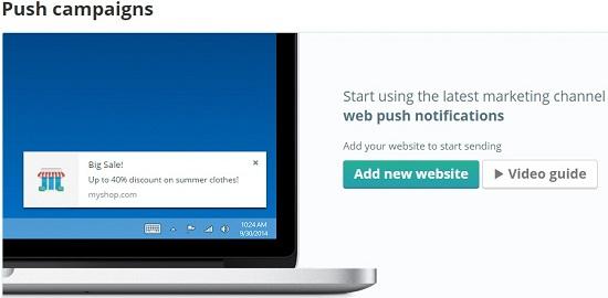 web push, engagement button